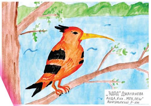 Рисунок Джахановой Аиды, 6 класс, МОУ ПСШ, Яшкульский р-он Республики Калмыкия